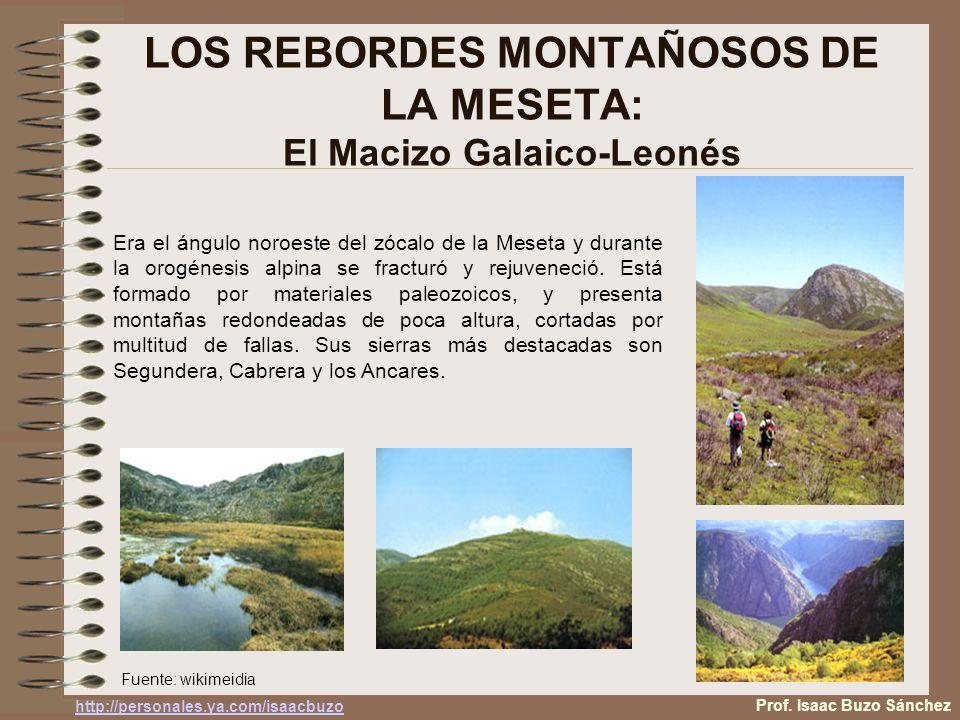LOS REBORDES MONTAÑOSOS DE LA MESETA: El Macizo Galaico-Leonés Era el ángulo noroeste del zócalo de la Meseta y durante la orogénesis alpina se fractu