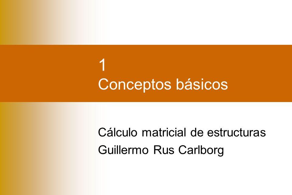 1 Conceptos básicos Cálculo matricial de estructuras Guillermo Rus Carlborg