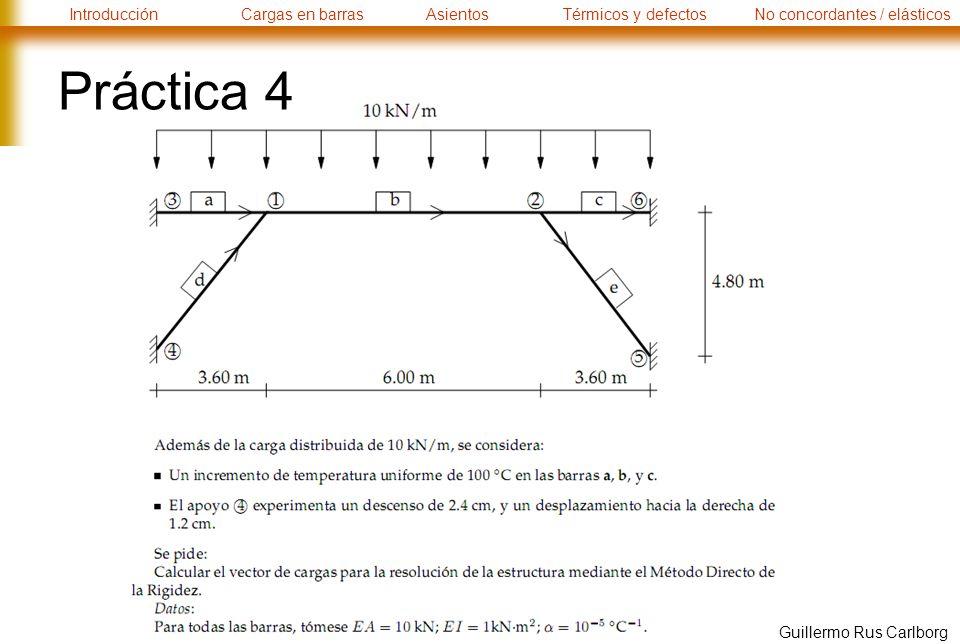 IntroducciónCargas en barrasAsientosTérmicos y defectosNo concordantes / elásticos Guillermo Rus Carlborg Práctica 4