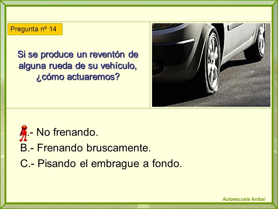 Si se produce un reventón de alguna rueda de su vehículo, ¿cómo actuaremos.