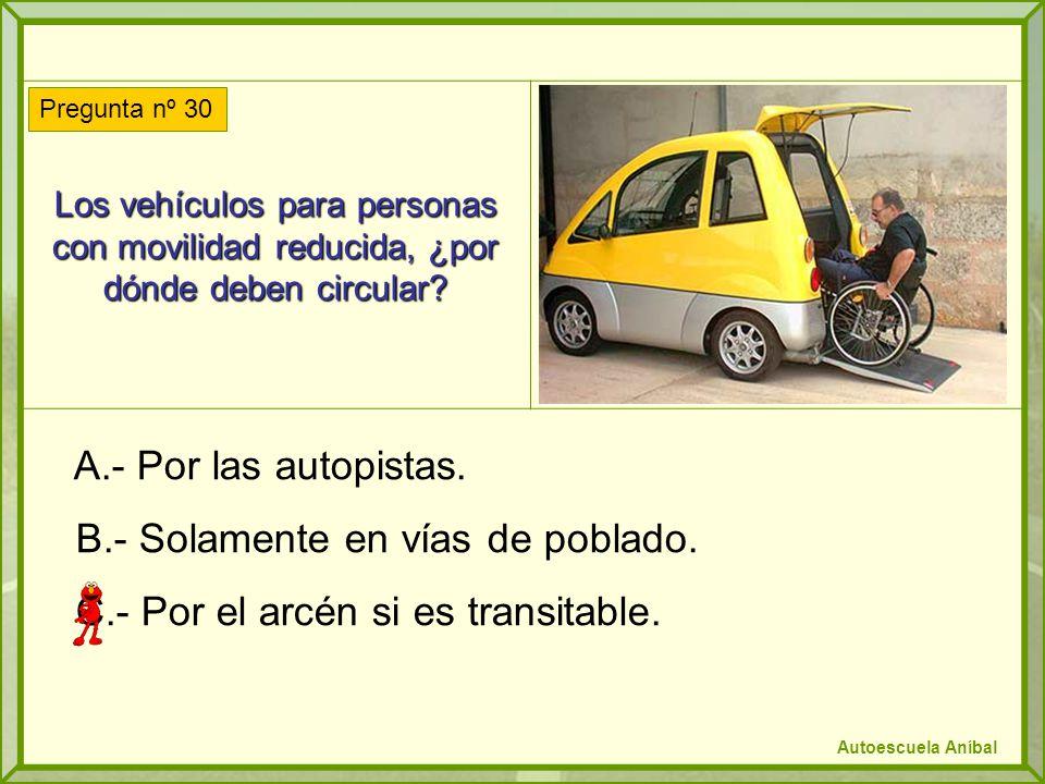 Los vehículos para personas con movilidad reducida, ¿por dónde deben circular.