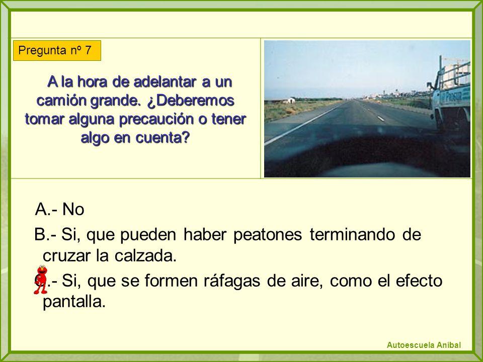 A la vista de la fotografía, ¿es correcto el comportamiento del conductor del turismo.