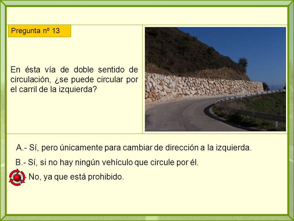 En ésta vía de doble sentido de circulación, ¿se puede circular por el carril de la izquierda.