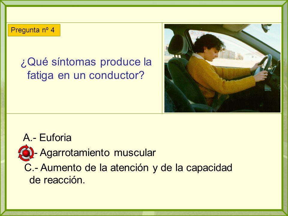 ¿Qué síntomas produce la fatiga en un conductor.