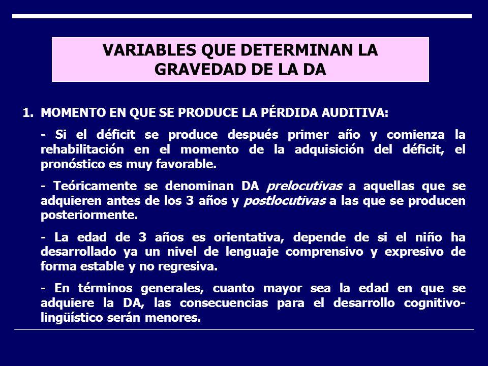 VARIABLES QUE DETERMINAN LA GRAVEDAD DE LA DA 2.