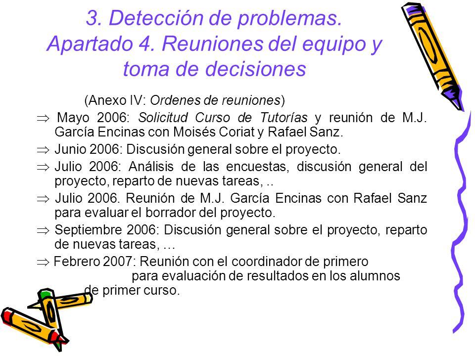 3.Detección de problemas. Apartado 4.