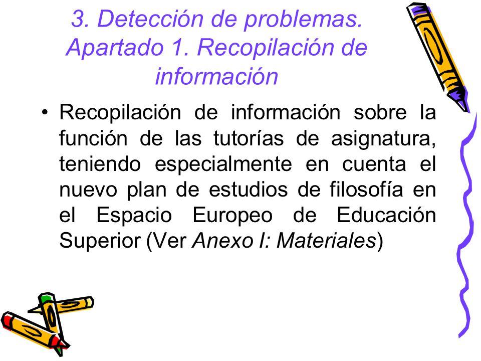 5,6.Objetivos y actividades: 2. Evitar coincidencia de tutorías y clases; motivación 1.