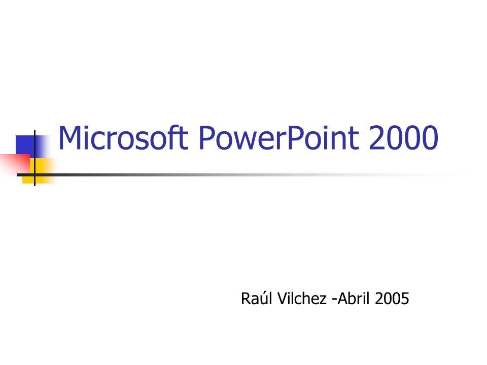 Contenido Tema 1: Introducción a PowerPoint.1.1. Función e inicio de PowerPoint 2000 1.2.
