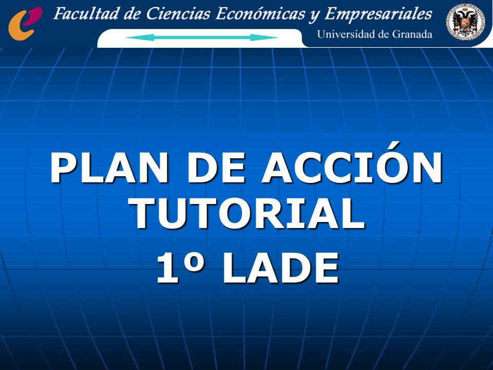 PLAN DE ACCIÓN TUTORIAL 1º LADE