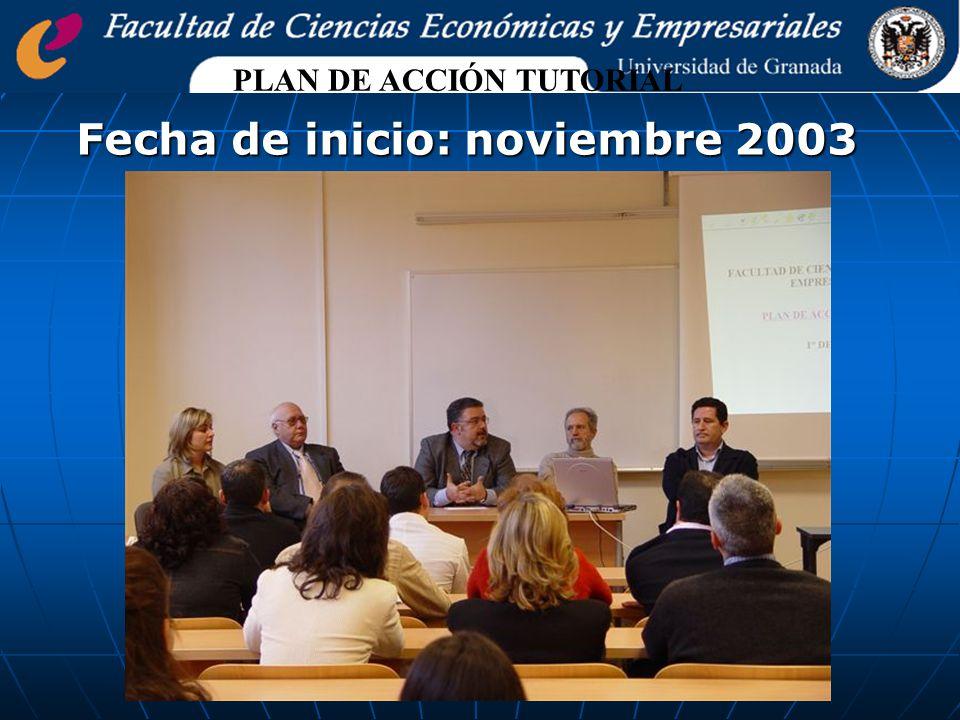 Fecha de inicio: noviembre 2003 PLAN DE ACCIÓN TUTORIAL