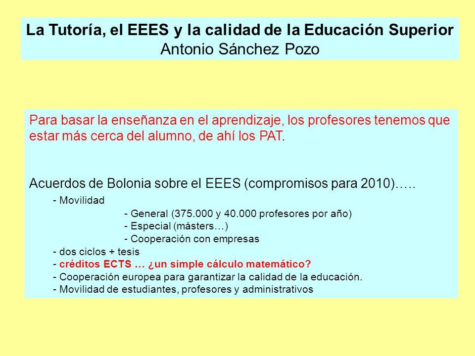 2 Ámbito de la tutoría: –Propio de los centros, que deben establecer un plan tutorial –Todo profesor es orientador