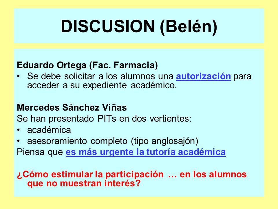 DISCUSION (Belén) Eduardo Ortega (Fac.