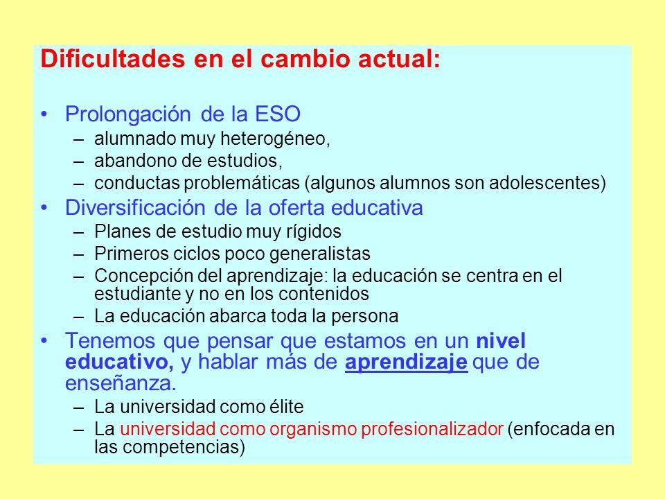 Motivación a los estudiantes: un serio hándicap - información - boca-oreja (alumnos tutores) - información en Institutos de Bachillerato ¿Motivación para los profesores?