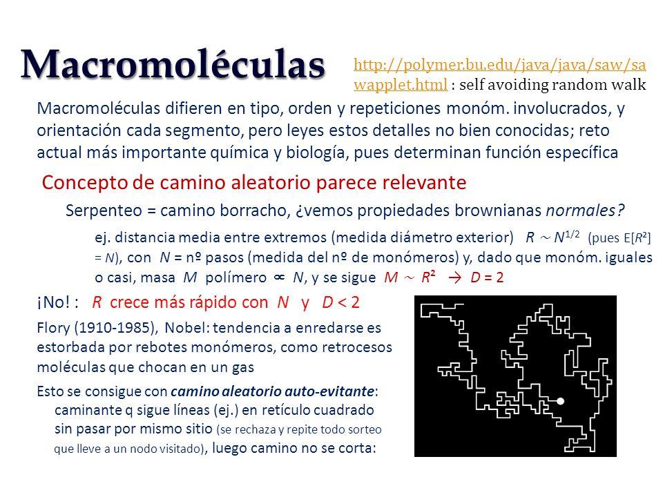 Macromoléculas difieren en tipo, orden y repeticiones monóm. involucrados, y orientación cada segmento, pero leyes estos detalles no bien conocidas; r