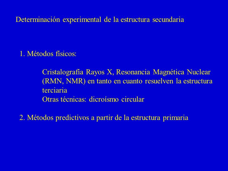 Determinación experimental de la estructura secundaria 1.