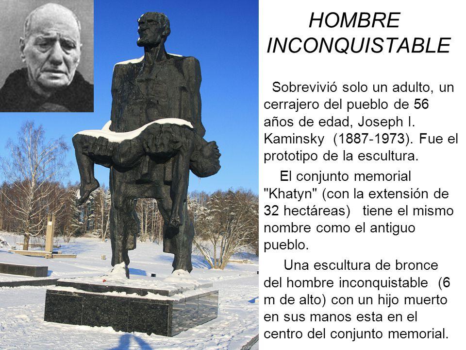 HOMBRE IN INCONQUISTABLE Sobrevivió solo un adulto, un cerrajero del pueblo de 56 años de edad, Joseph I. Kaminsky (1887-1973). Fue el prototipo de la
