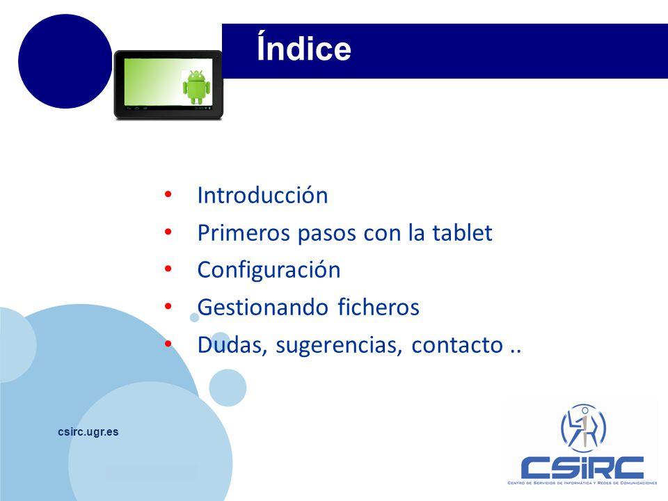 www.company.com csirc.ugr.es Introducción 1 Conexión al ordenador Estructura ficheros