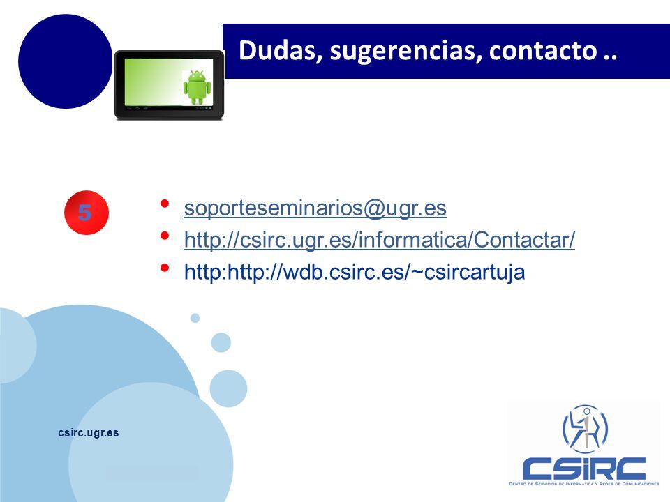 www.company.com csirc.ugr.es Dudas, sugerencias, contacto..
