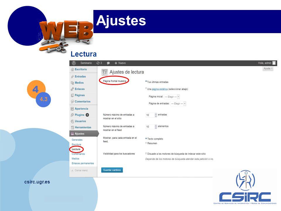 www.company.com csirc.ugr.es Ajustes Lectura 4 4.3