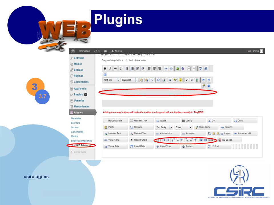 www.company.com csirc.ugr.es Plugins 3 3.7
