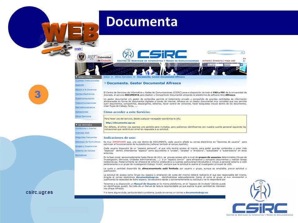 www.company.com csirc.ugr.es 3 Documenta