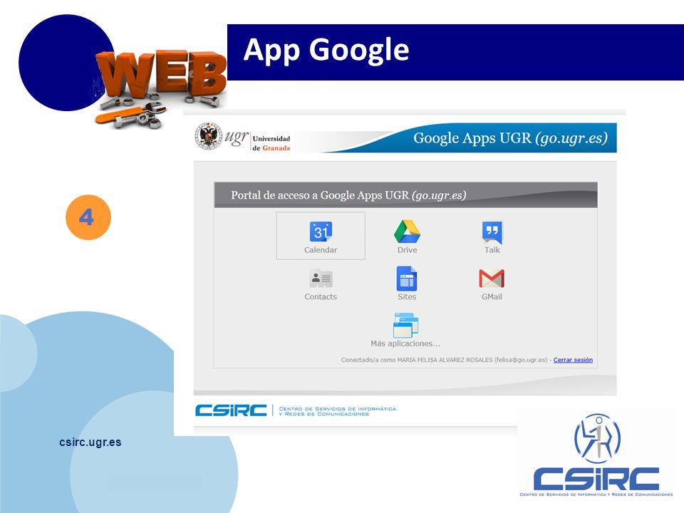 www.company.com csirc.ugr.es 4 App Google