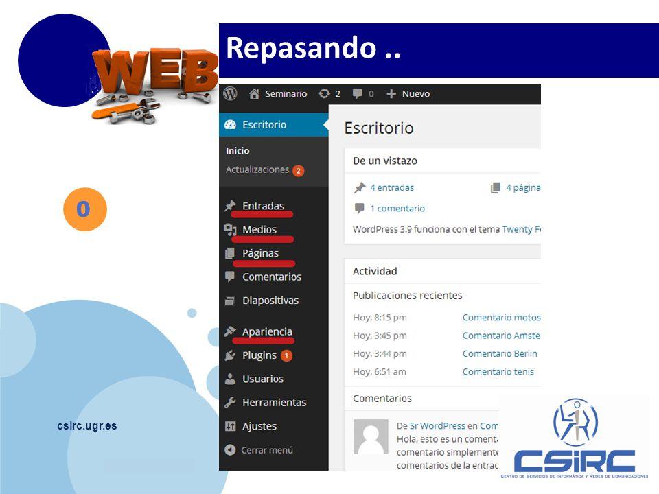 www.company.com csirc.ugr.es Repasando.. 0