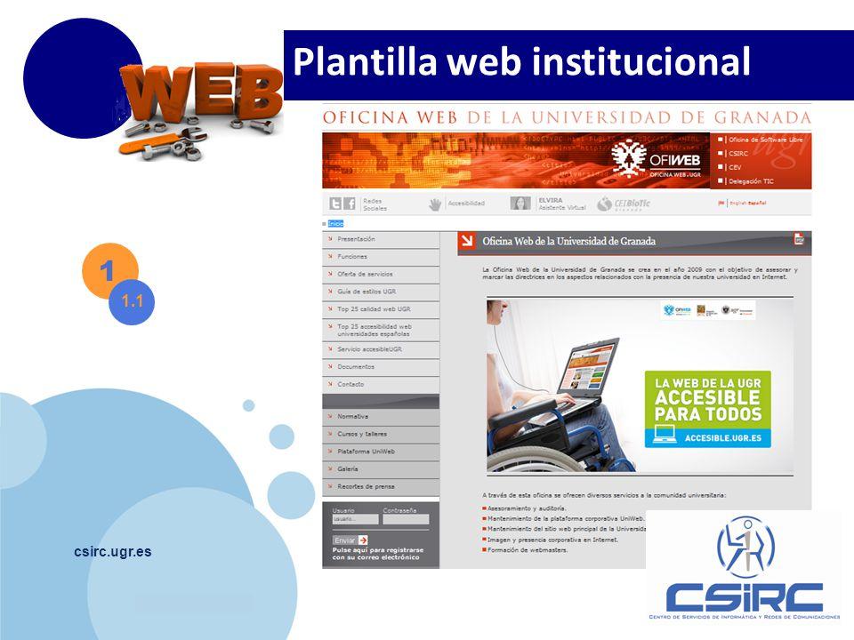www.company.com csirc.ugr.es Plantilla web institucional 1 1.1