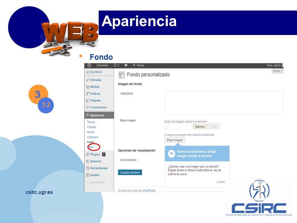 www.company.com csirc.ugr.es Apariencia Fondo 3 3.2
