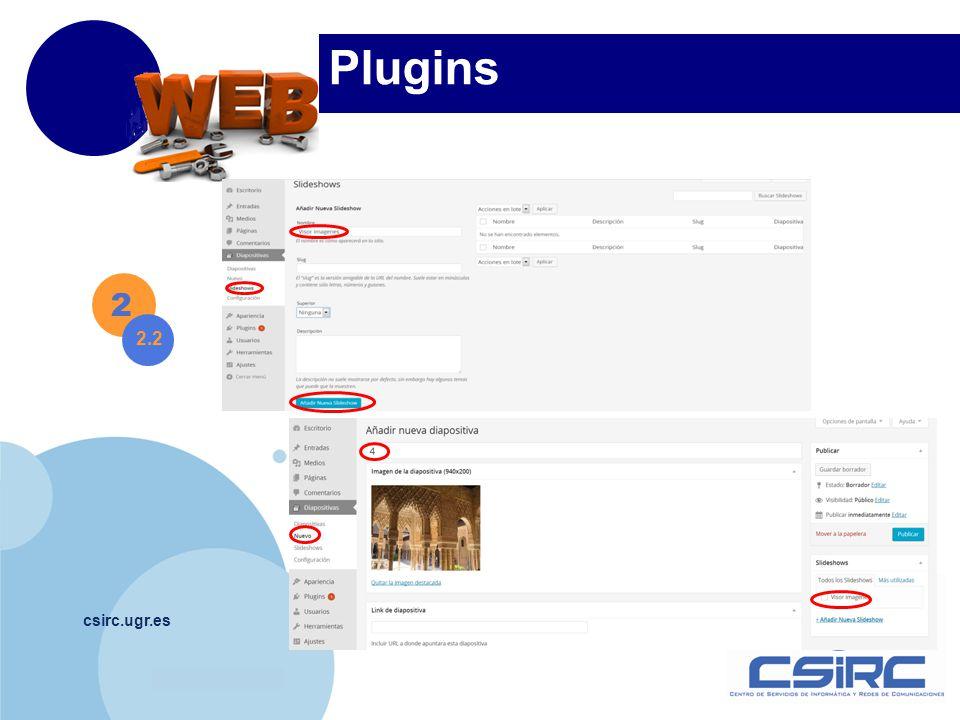 www.company.com csirc.ugr.es Plugins 2 2.2