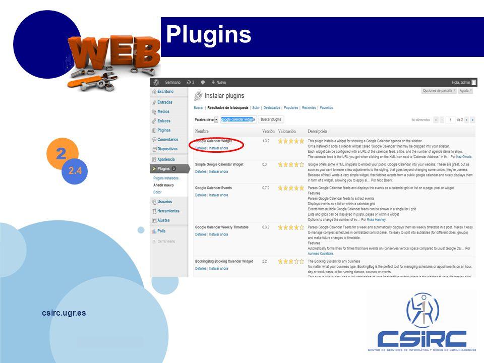 www.company.com csirc.ugr.es Plugins 2 2.4