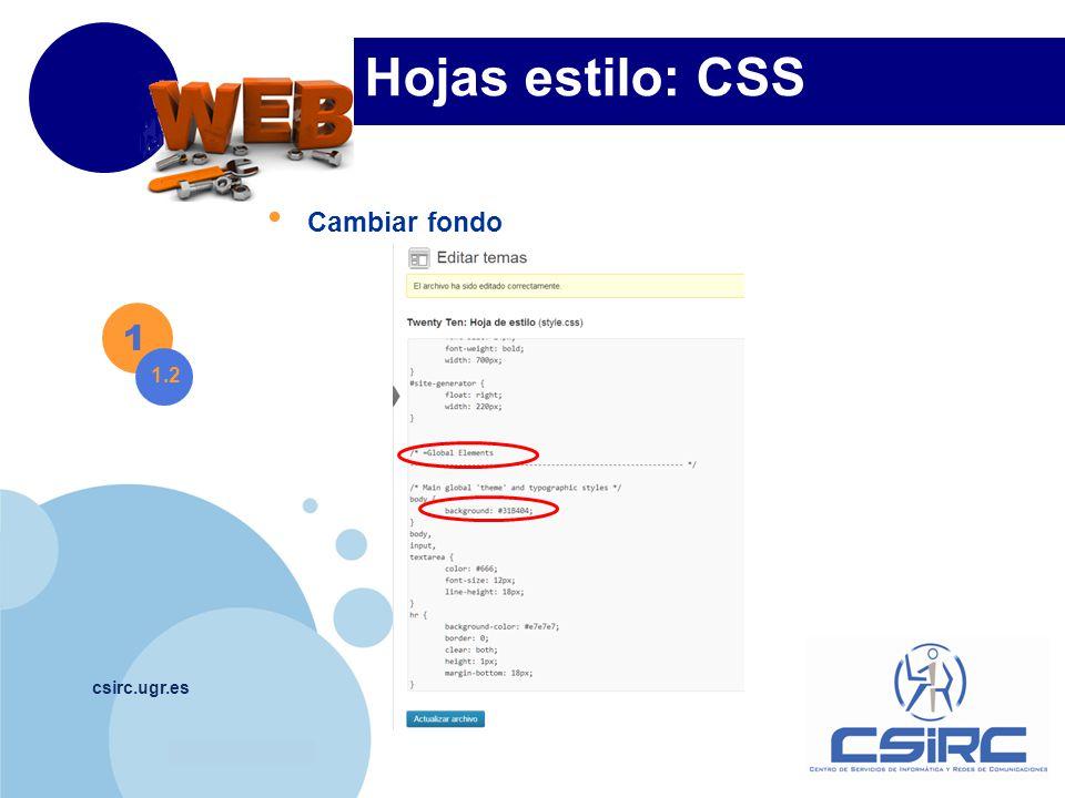 www.company.com csirc.ugr.es Hojas estilo: CSS 1 1.3 Cambiar laterales