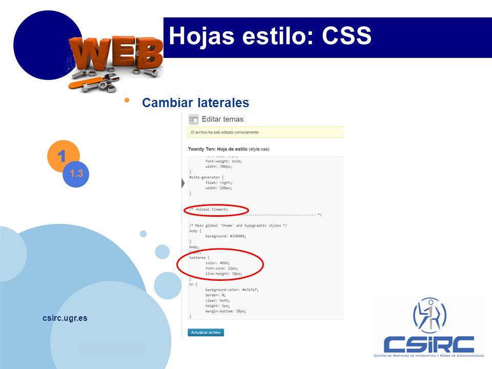 www.company.com csirc.ugr.es Hojas estilo: CSS 1 1.4 Páginas