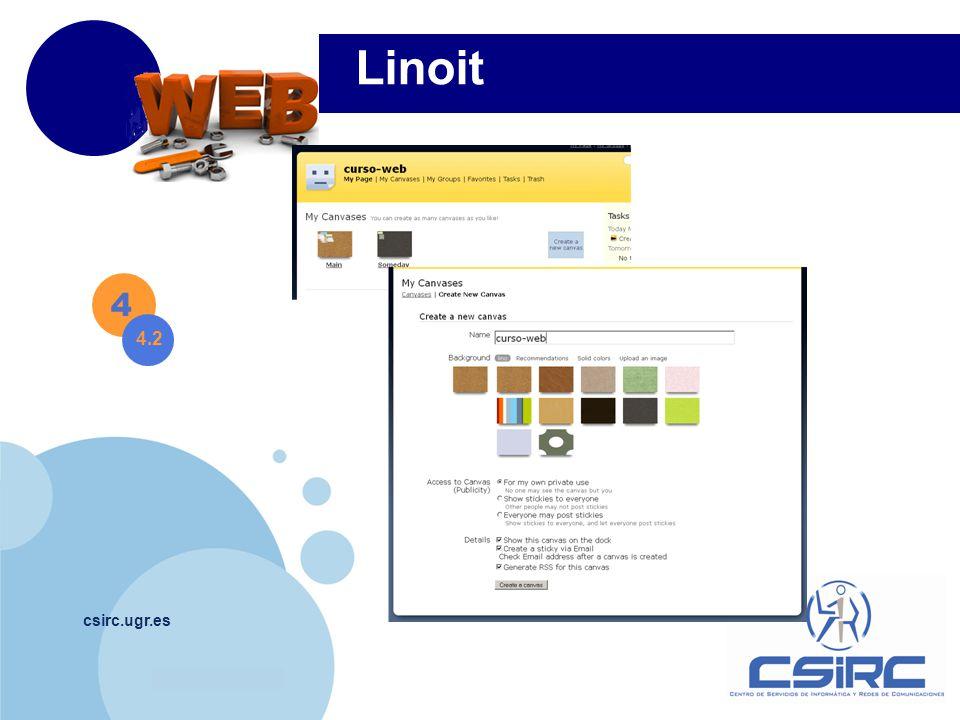 www.company.com csirc.ugr.es 4 4.2 Linoit