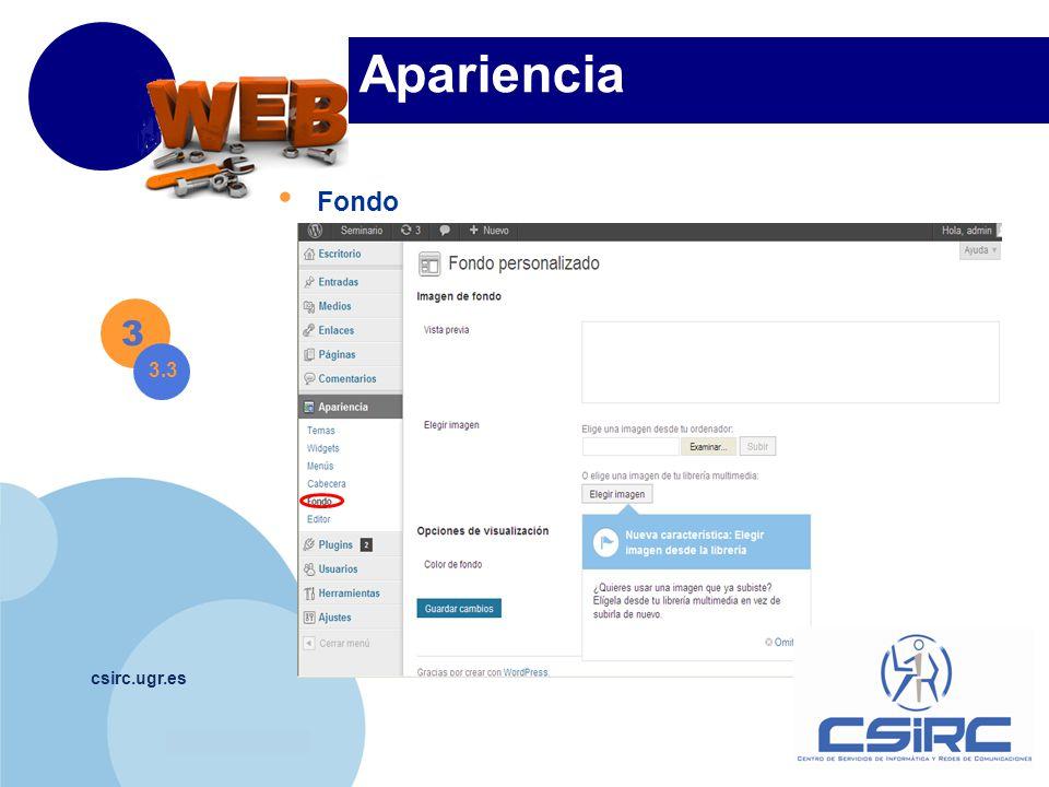 www.company.com csirc.ugr.es Apariencia Fondo 3 3.3
