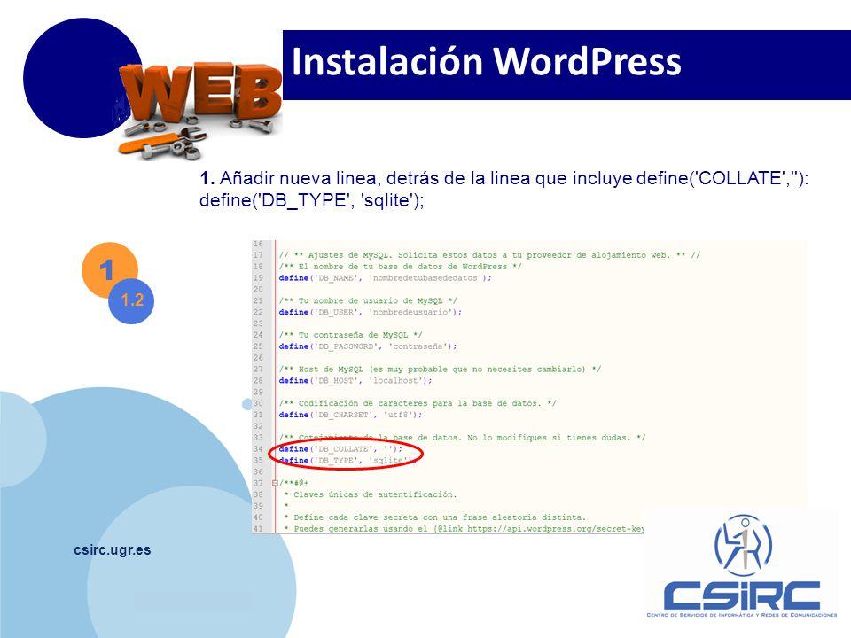 www.company.com csirc.ugr.es 1 1.2 1.