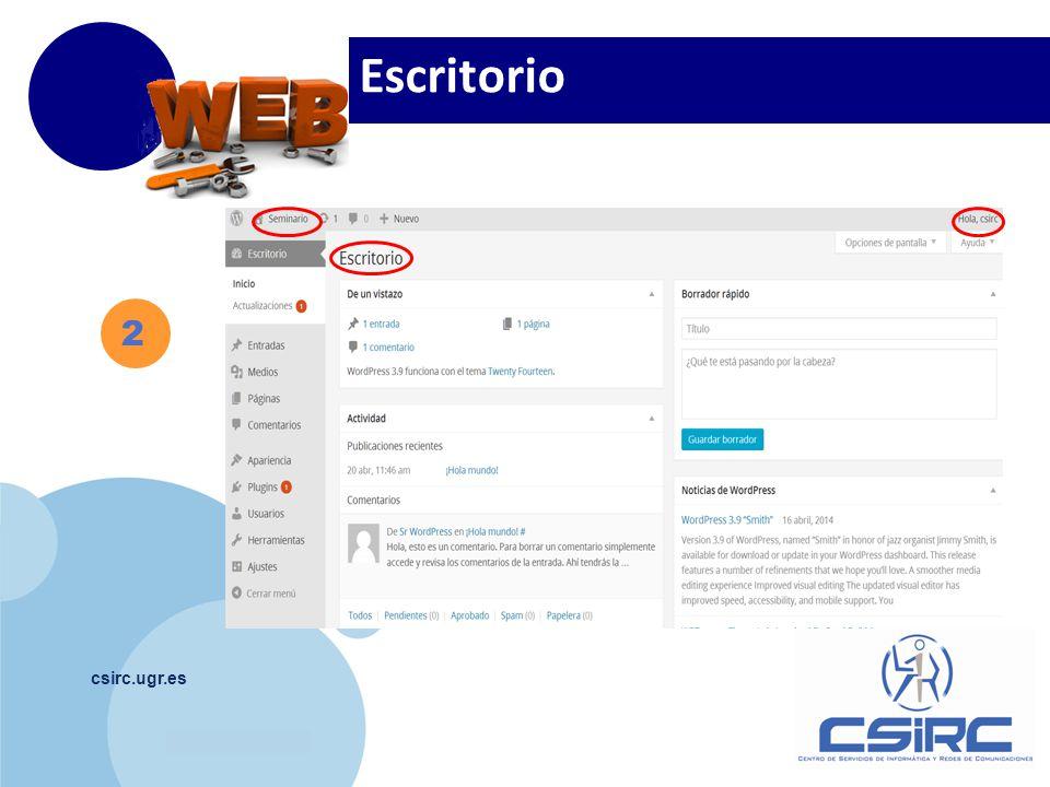 www.company.com csirc.ugr.es 2 Escritorio