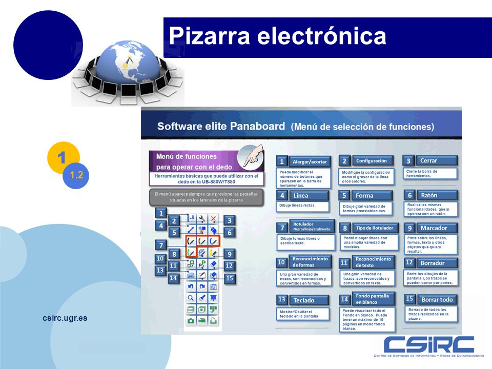 www.company.com Pizarra electrónica csirc.ugr.es 1 1.2