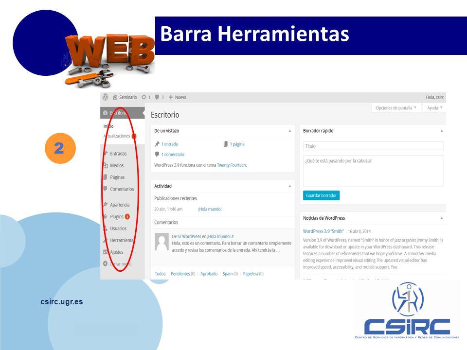 www.company.com csirc.ugr.es 2 Barra Herramientas