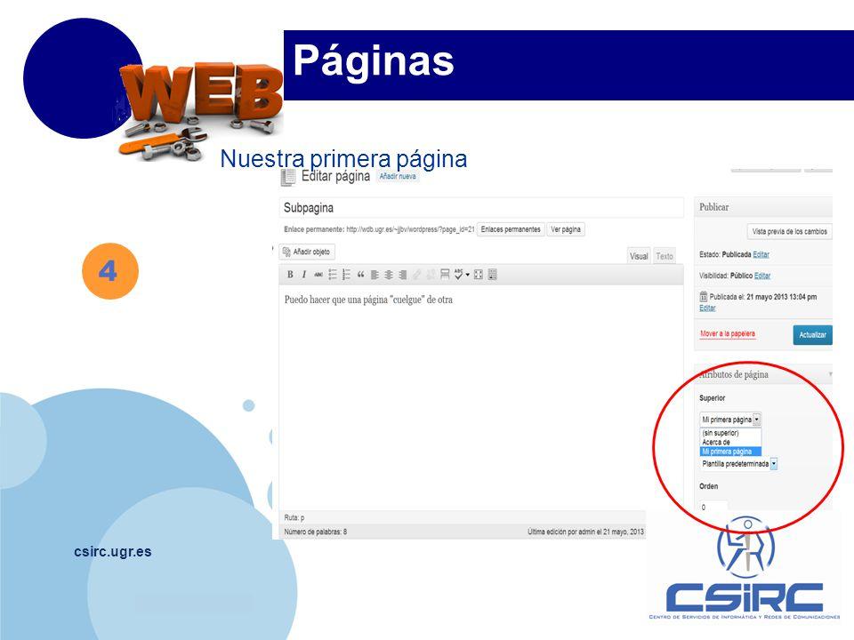 www.company.com csirc.ugr.es 4 Páginas Nuestra primera página