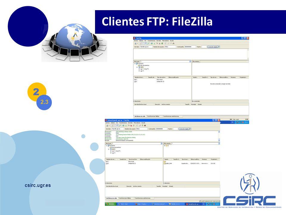 www.company.com csirc.ugr.es 2 2.3 Clientes FTP: FileZilla