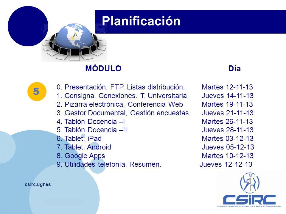 www.company.com csirc.ugr.es MÓDULO Día 0. Presentación.
