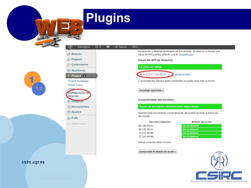 www.company.com csirc.ugr.es Plugins 1 1.3