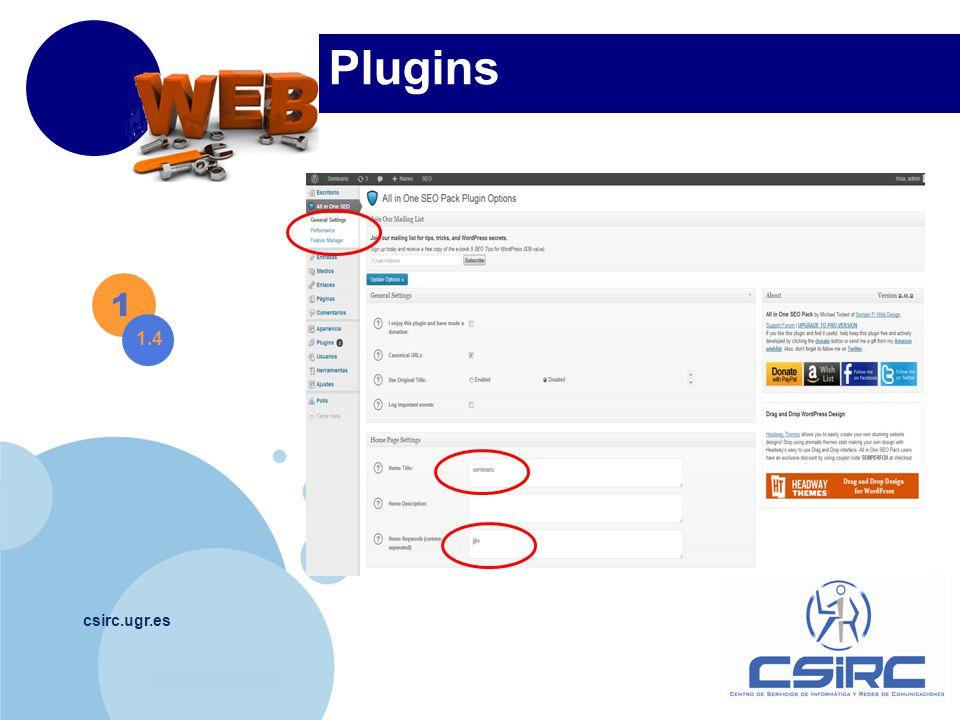 www.company.com csirc.ugr.es Plugins 1 1.4