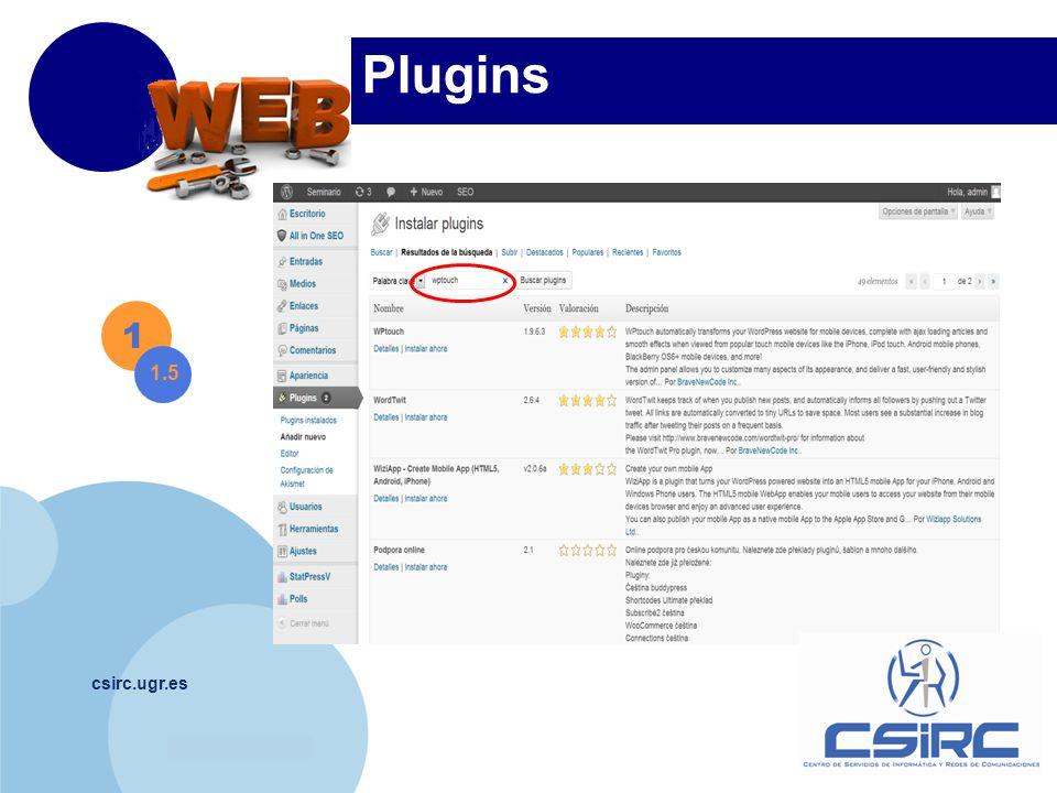 www.company.com csirc.ugr.es Plugins 1 1.5