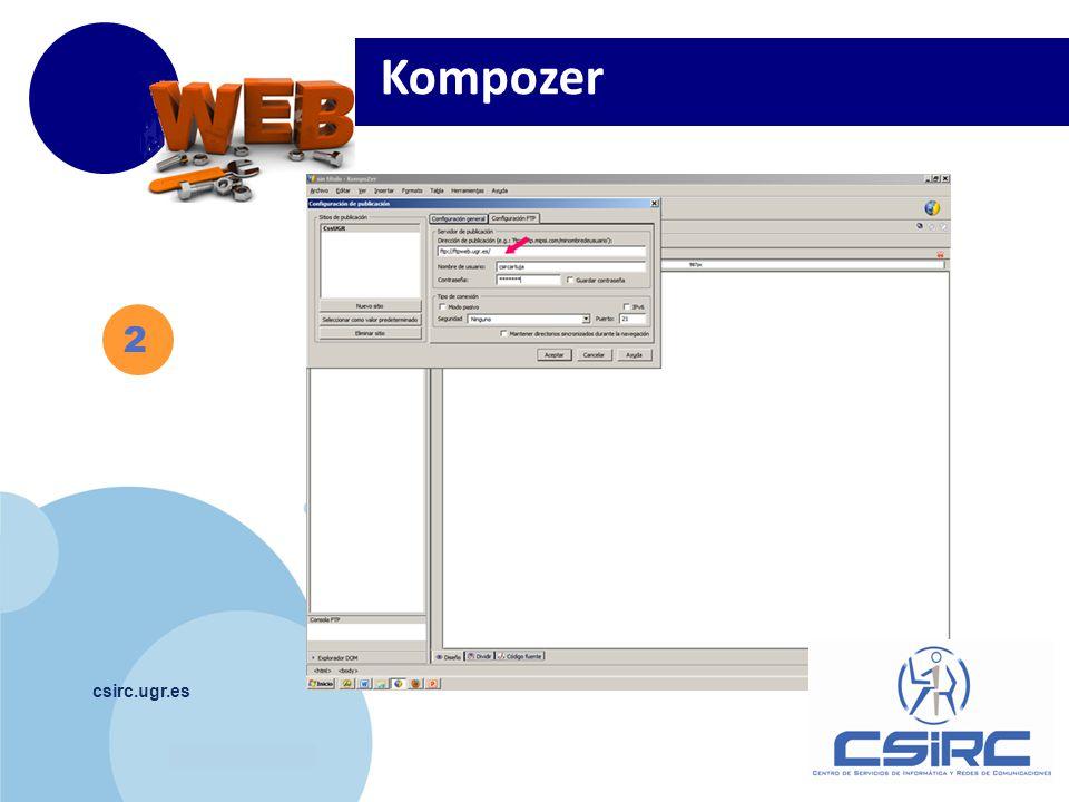 www.company.com csirc.ugr.es 2 Kompozer