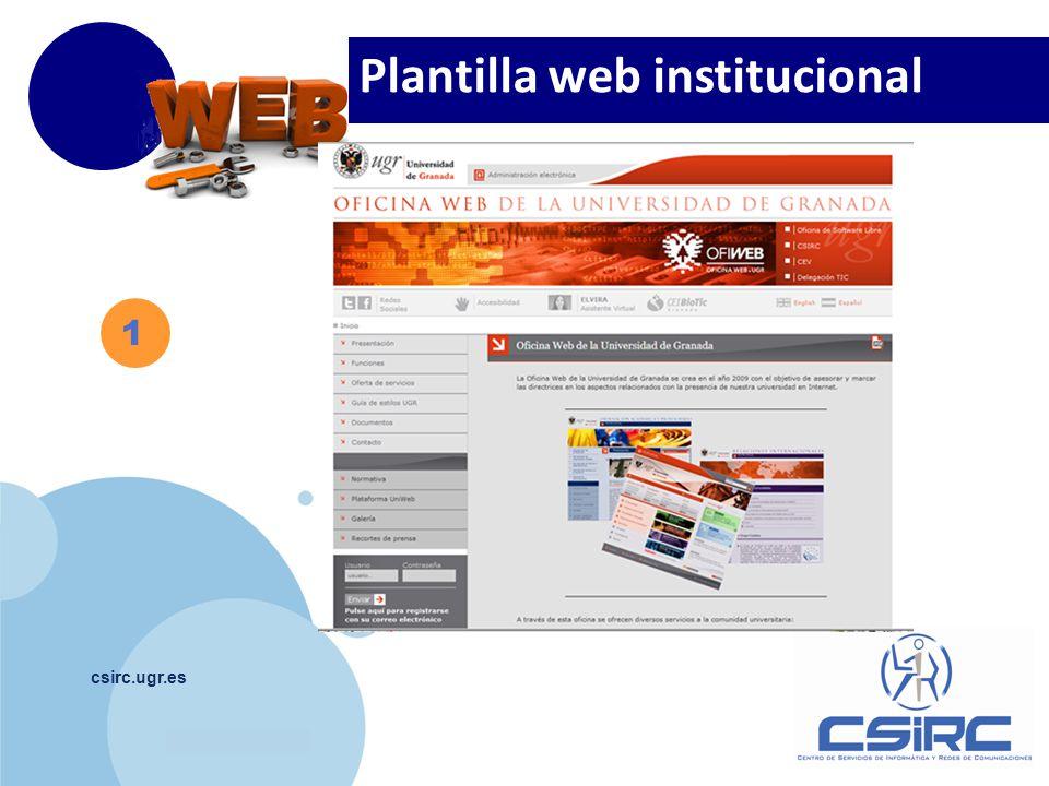 www.company.com csirc.ugr.es Plantilla web institucional 1