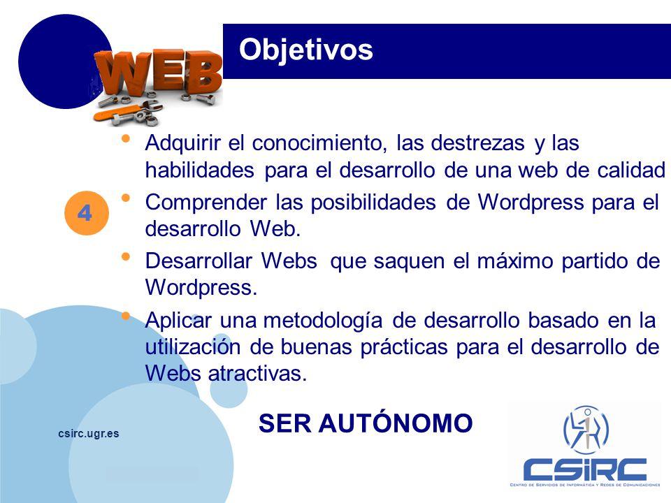 www.company.com csirc.ugr.es 5 MÓDULO Día 0.Presentación del Curso.