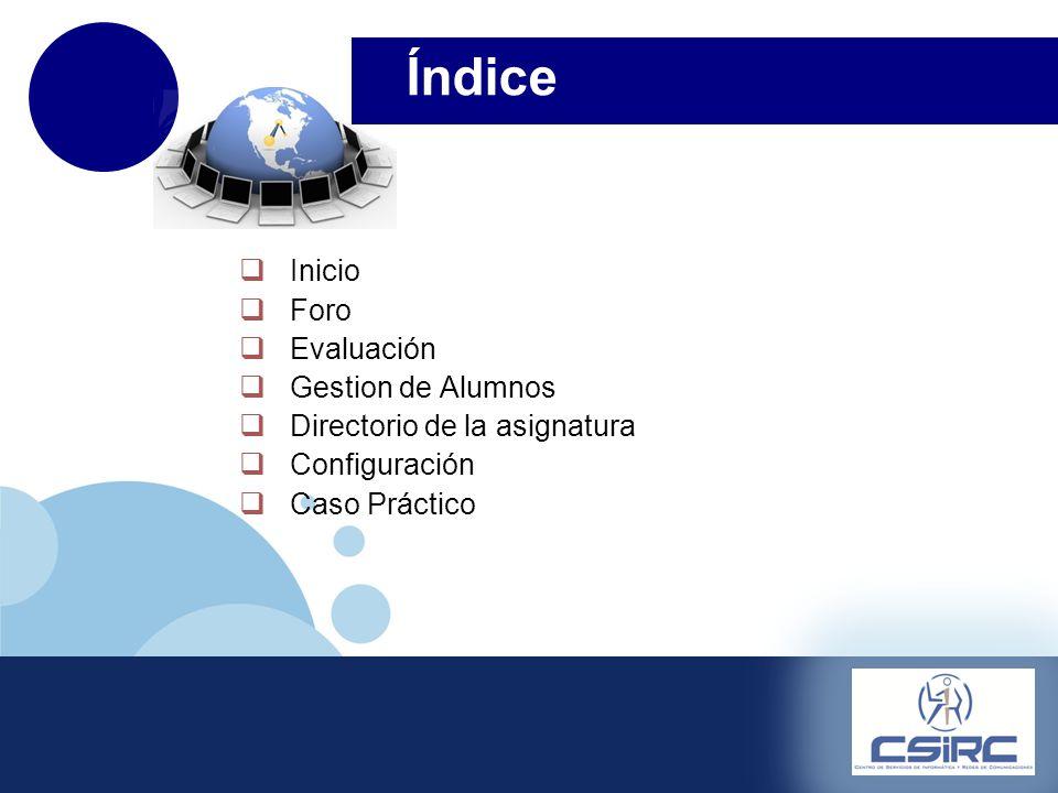 www.company.com Inicio Foro Evaluación Gestion de Alumnos Directorio de la asignatura Configuración Caso Práctico Eliminar el archivo prueba.txt almacenado en el directorio de docencia.
