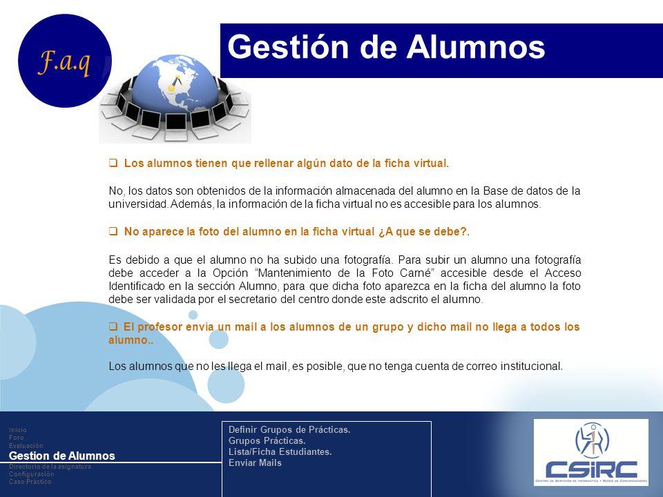 www.company.com Los alumnos tienen que rellenar algún dato de la ficha virtual.